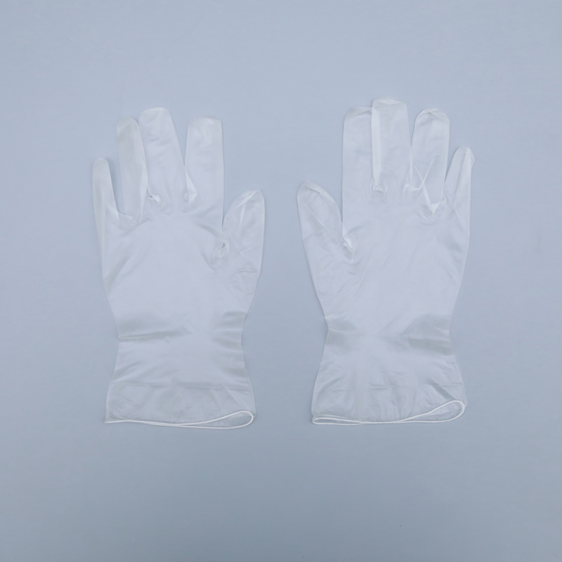 Gloves with powder